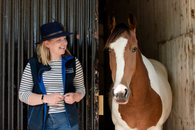 Equestrian business The Equine Business Assistant and one of her horses